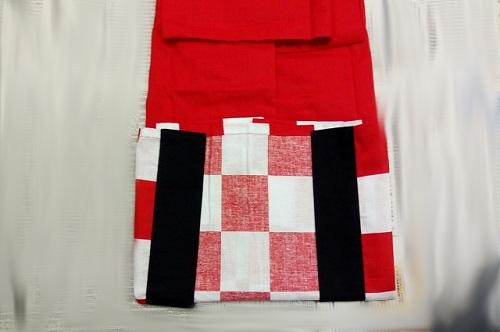 前衿を前面にする畳み手順-4