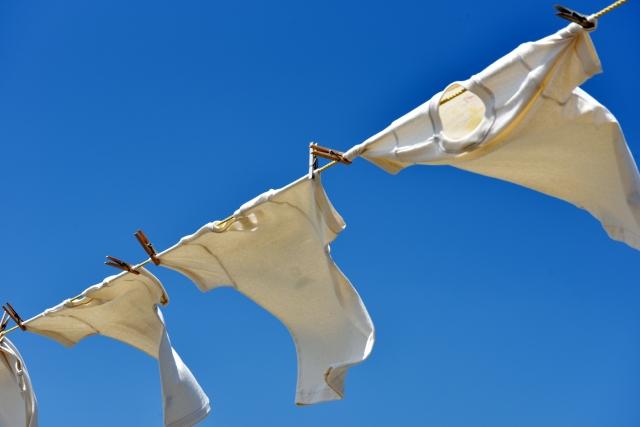 洗濯されたTシャツ